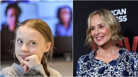 Sharon Stone shares her admiration for 'brilliant' Putin, scorns 'baby' Trump with Russian pranksters posing as Greta Thunberg