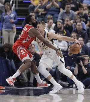 Harden's late 3 helps Houston rocket past Pacers 98-94