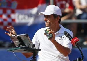 After soccer final, Croatia plays France again in Davis Cup