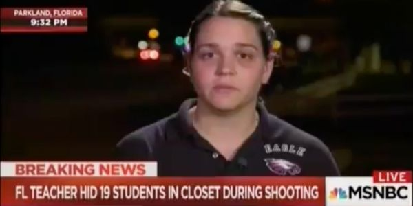 Florida high school teacher breaks down after saying every precaution had been taken to save students, yet 17 still died