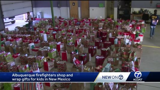 From a 911 call to giving Christmas gifts: Firefighters gather to give back to New Mexico kids