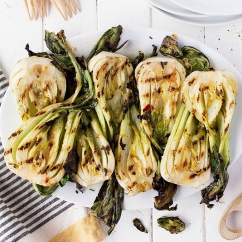Miso Grilled Baby Bok Choy