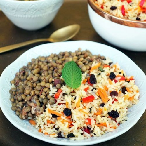 Brazilian Jeweled Rice and Lentils