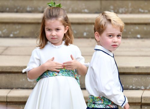 The most adorable photos of Prince George and Princess Charlotte at Princess Eugenie's wedding