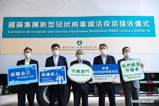 Macao receives second batch of mainland-made COVID-19 vaccines
