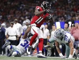 Falcons' Jones still on injury report, likely to play Sunday