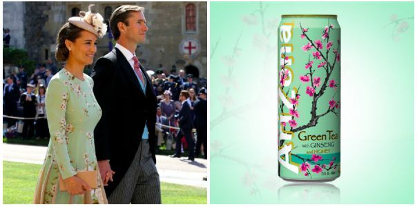 People compare Pippa Middleton's royal wedding dress to can of Arizona iced tea