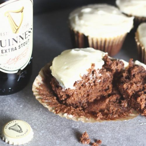 Black and Tan Guinness Cupcakes