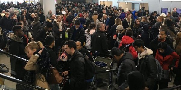JFK airport terminal evacuated after water main breaks and floods baggage claim
