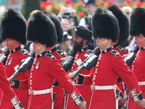 A Sikh soldier just became the first person to march in a turban during the Trooping the Colour parade