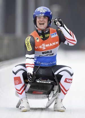 Kindl profits from Loch mistake to win 2nd luge World Cup