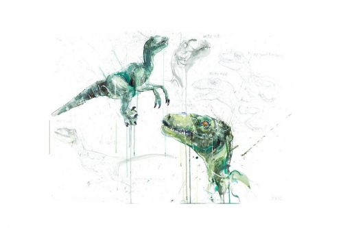 Dave White Unleashes Expressive Oil Portraits of Dinosaurs in 'Extinct' Collection