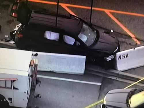 Several injured, SUV stopped after shooting at NSA gate