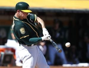 Marcus Semien has 5 RBIs, A's pound Angels 21-3