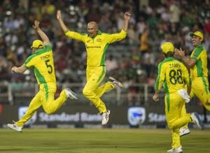 Agar takes hat trick for Australia in T20 vs South Africa