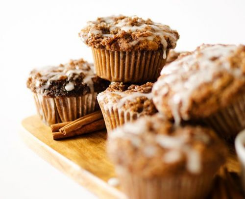 Soft Almond Butter Coffee Cake Muffins