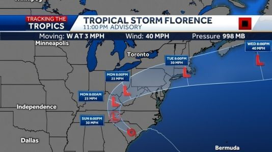 'Catastrophic' flooding, landslide warnings come as Florence slowly moves inland