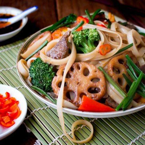 Spicy Beef and Longevity Noodles