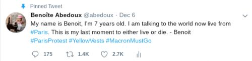 Twitter Account Mocks Macron for Pushing War in Syria Now Facing Revolution at His Doorstep