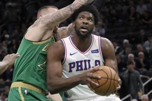 Embiid has 38 points, 13 boards, Sixers beat Celtics 115-109