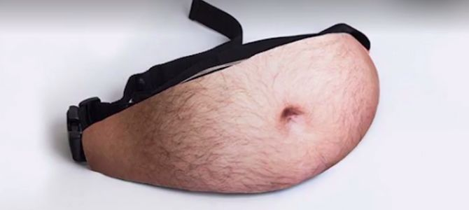 Hilarious fanny pack creates instant 'Dad bod'