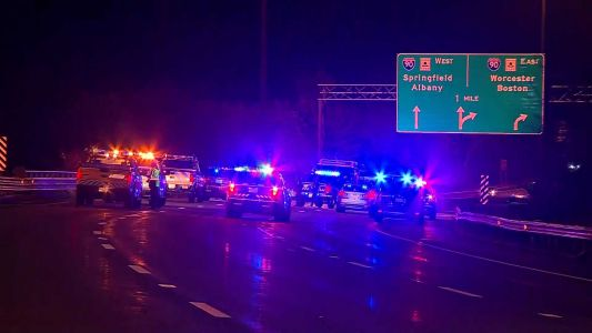 3 killed in wrong-way crash on Mass. Interstate