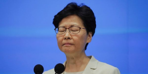 Hong Kong's leader apologized profusely after huge protests over a controversial extradition bill, but won't withdraw it