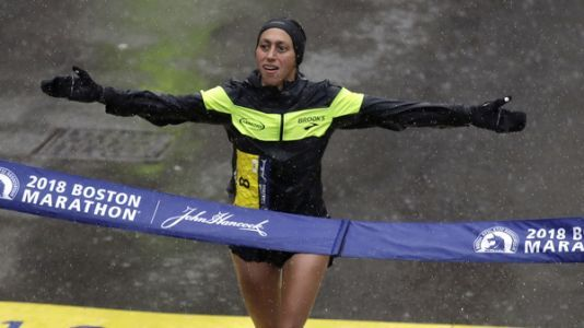 Desiree Linden Wins Boston Marathon - The First U.S. Woman To Win Since 1985