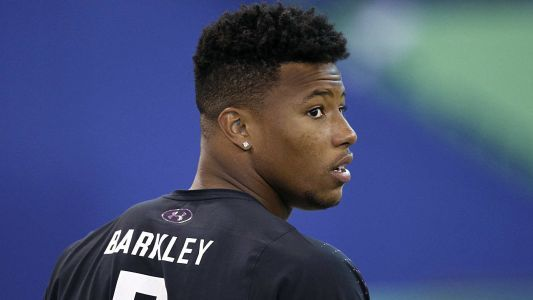 Saquon Barkley needs only one carry to hint at Giant rookie season