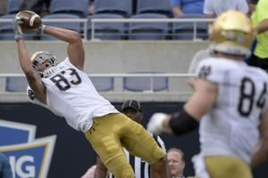 Book throws for 247, TD as Notre Dame beats Iowa State 33-9