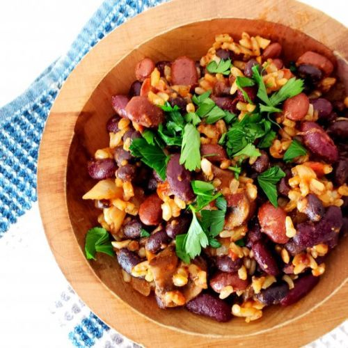 Spicy Mexican Three Bean Rice