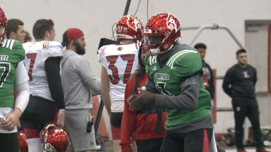 Louisville football players preparing for Mississippi State