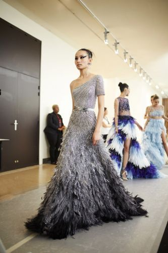 Behind the scenes at the GEORGES HOBEIKA Haute Couture Autumn