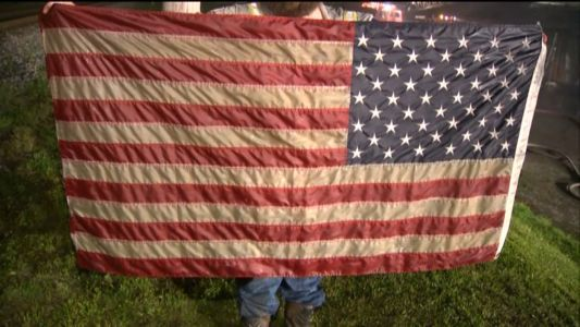 American flag is only thing saved when fire destroys Fayette County business