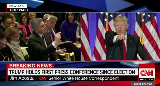 Trump thanks 'Crazy Jim Acosta of Fake News CNN' for reporting on him gloating about the shutdown victory