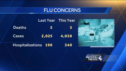 5th person dies from flu-like complications in Allegheny County