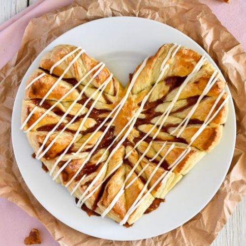 Easy Puff Pastry Heart