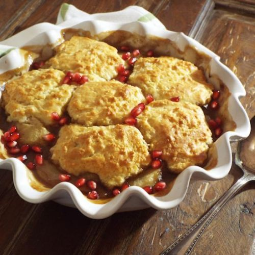 Pear and Pomegranate Cobbler
