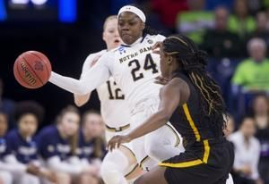 Ogunbowale, Shepard lead No. 3 Irish in 92-50 rout of B-C