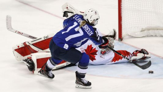 'Oops, I did it again': Watch Jocelyne Lamoureux's gold medal-winning shootout goal
