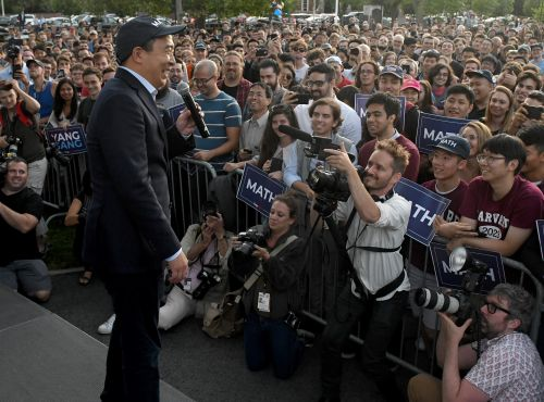 'Yang Gang' comes out for Andrew Yang in Cambridge