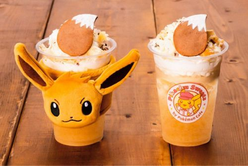 Pokémon Café's Pikachu Sweets Releases Eevee-Themed Drink With New Coffee Sleeves