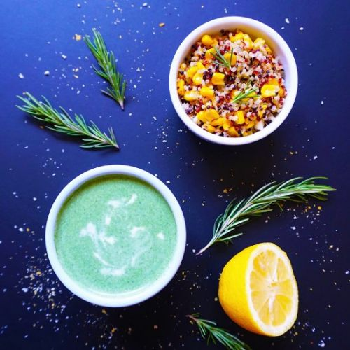 Vegan Rosemary Infused Soup & Salad