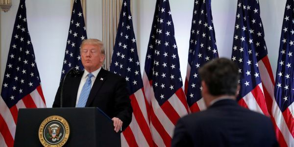 Trump clashes with CNN's Jim Acosta after he asks why the president always seems to side with men accused of sexual assault