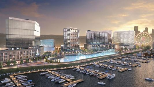 Man-made lagoon that can convert to ice rink planned for North Side development