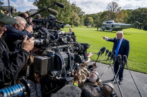 Trump baselessly claims the press is trying to 'crash the economy'