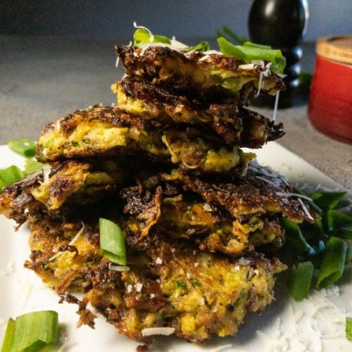 Zucchini Pancakes with Bacon