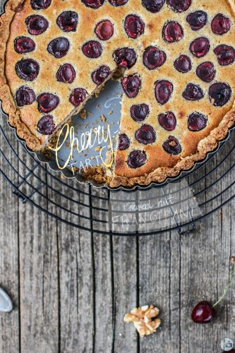 Cherry Tart with mixed Nut Frangipane