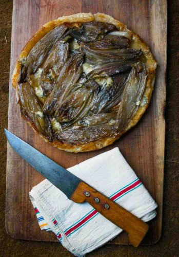 Caramelized Endive and Blue Cheese Tart