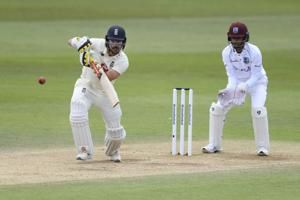 England crawls to 54-run lead in 1st test vs West Indies